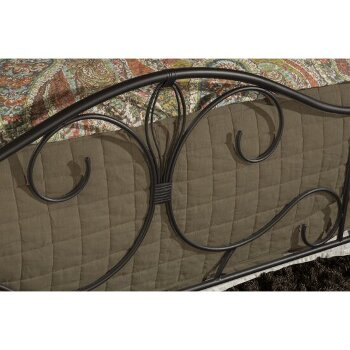 Bed Set Black & Brushed Oak Fabric View 5