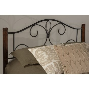 Bed Set Black & Brushed Cherry Fabric View 1