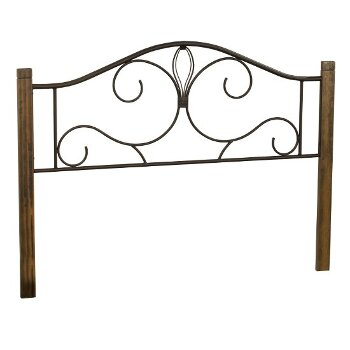 Headboard Black & Brushed Oak Fabric View 3