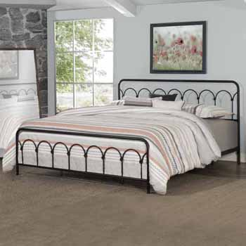 """Hillsdale Furniture Jolene King Bed, Textured Black (Includes: Headboard, Footboard and Bed Frame Rails), 78-3/4""""W x 81-1/4""""D x 44""""H"""