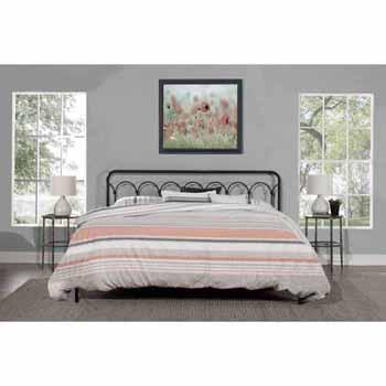 "Hillsdale Furniture Jolene King Headboard with Frame, Textured Black, 79-3/4""W x 73-3/4""D x 49""H"