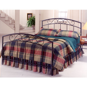 Hillsdale Furniture Wendell Collection Full Bed Set with Rails in Textured Black (Set Includes: Headboard, Footboard and Rails)