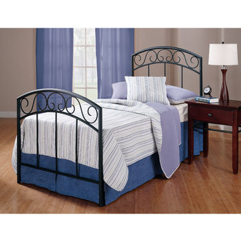 Hillsdale Furniture Wendell Collection Twin Bed Set with Rails in Textured Black (Set Includes: Headboard, Footboard and Rails)