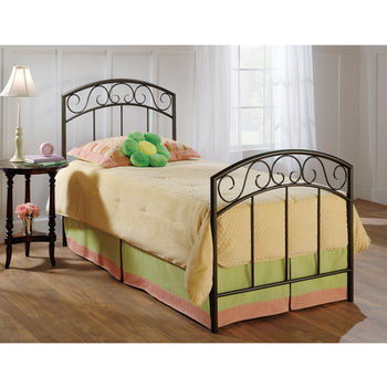 Hillsdale Furniture Wendell Collection Twin Bed Set with Rails in Copper Pebble (Set Includes: Headboard, Footboard and Rails)