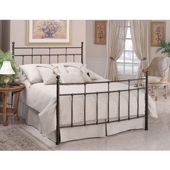 Hillsdale Furniture Providence Collection Full Bed Set with Rails in Antique Bronze (Set Includes: Headboard, Footboard and Rails)