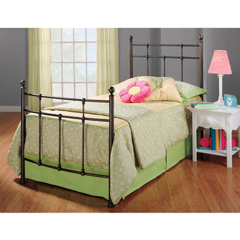 Hillsdale Furniture Providence Collection Twin Bed Set with Rails in Antique Bronze (Set Includes: Headboard, Footboard and Rails)