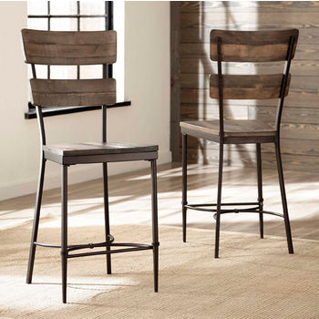 Jennings Collection Non-Swivel Counter Stool, Set of 2