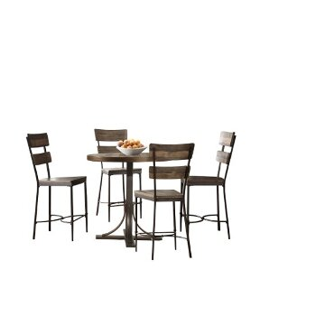 5-Piece Set w/ Non-Swivel Counter Height Stools Product View 2