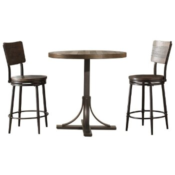 3-Piece Set w/ Swivel Counter Height Stools Product View