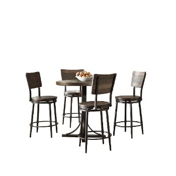 5-Piece Set w/ Swivel Counter Height Stools Product View