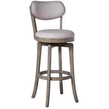 "Hillsdale Furniture Sloan Swivel Bar Height Stool, Aged Gray, 20""W x 17-3/8""D x 43-1/4""H"