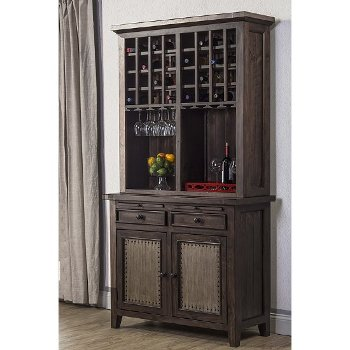 Wood Buffet Servers Amp Hutches With Open Shelf Amp Cabinet
