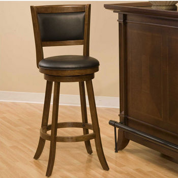 Hillsdale Furniture Dennery Swivel Stool in Cherry