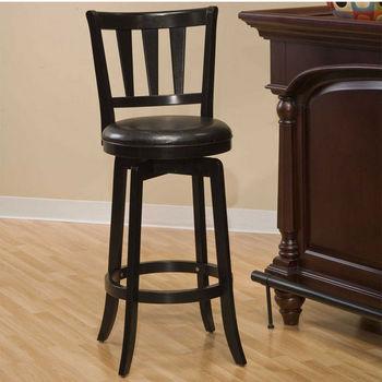 Hillsdale Furniture Presque Isle Swivel Stool in Black