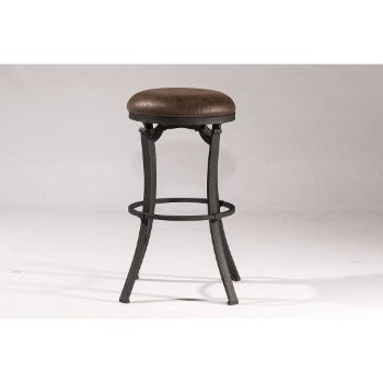 Counter Stool Black & Cocoa Fabric Product View