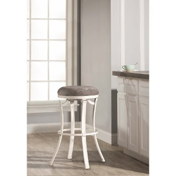 Counter Stool White & Paver Fabric