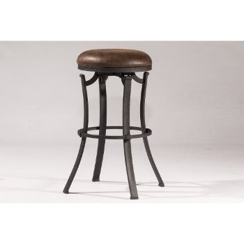 Bar Stool Black & Cocoa Fabric
