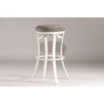 Bar Stool White & Paver Fabric