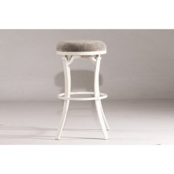 Bar Stool White & Paver Fabric Product View