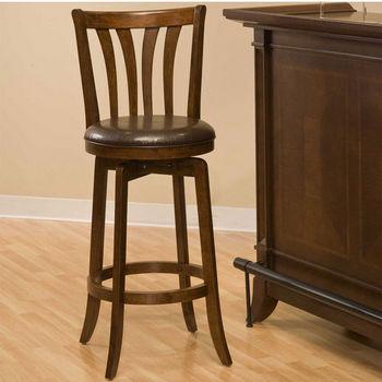 Hillsdale Furniture Savana Swivel Stool in Cherry