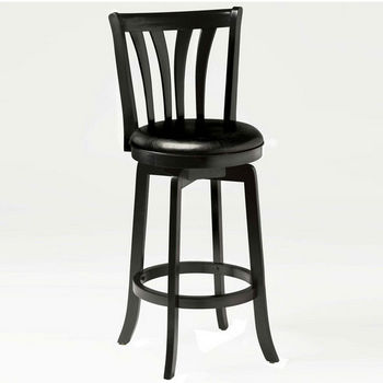 Hillsdale Furniture Savana Swivel Stool in Black