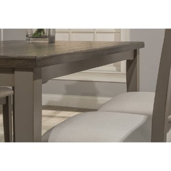 Rectangle Dining Table Distressed Gray Product View 6