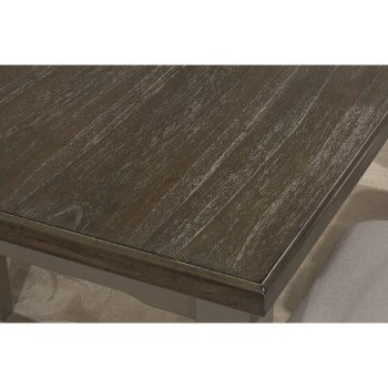 Rectangle Dining Table Distressed Gray Product View 7