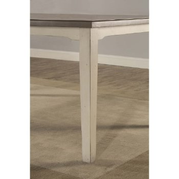 Rectangle Dining Table Sea White Base Product View 11