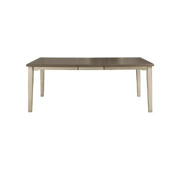 Rectangle Dining Table Sea White Base Product View 2