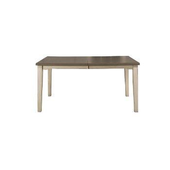 Rectangle Dining Table Sea White Base Product View 3
