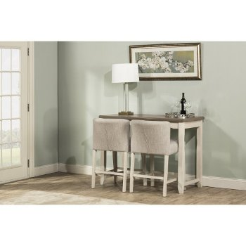 3-Piece Set w/ Wing Arm Stools Product View 2