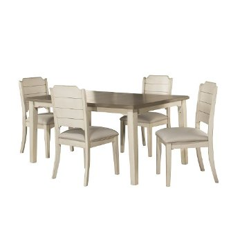 5-Piece Set w/ Chairs Sea White & Fog Fabric Product View