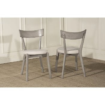 "Hillsdale Furniture Mayson Dining Chair - Set of 2  in Gray Finish, 17-1/4"" W x 20-1/2"" D x 31-1/4"" H"