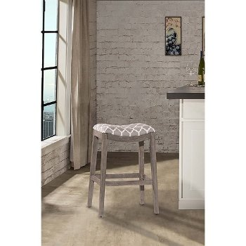 Counter Stool Gray & Trellis Gray Fabric