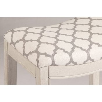 White & Trellis Ash Fabric Seating View