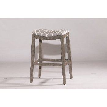 Bar Stool Gray & Trellis Gray Fabric
