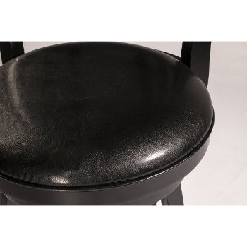 Black & Black Faux Leather Seating View