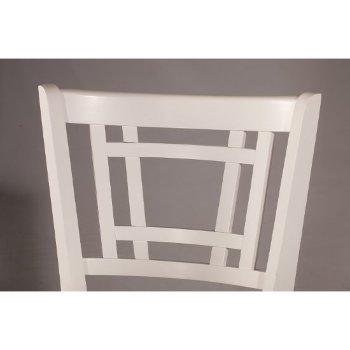 White & Ecru Fabric Back Support View
