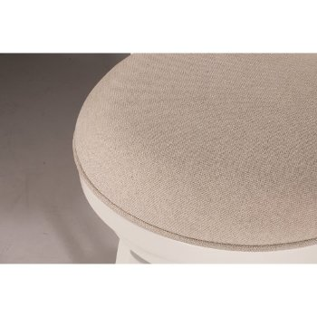 White & Ecru Fabric Seating View
