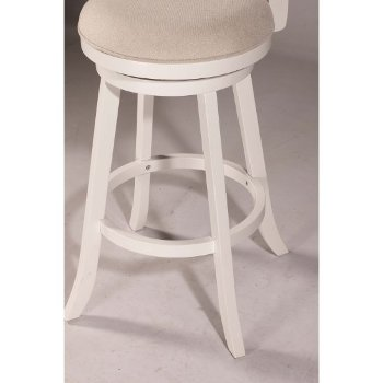 White & Ecru Fabric Footrest View