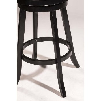 Black & Black Faux Leather Footrest View