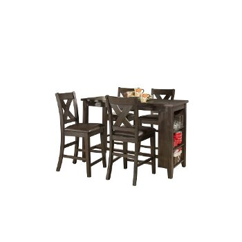 5-Piece Set w/ X-Back Stools Product View 2