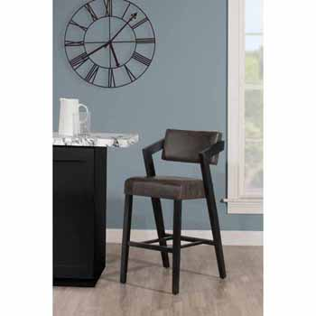 "Hillsdale Furniture Snyder Stationary Bar Height Stool, Blackwash, 21-1/2""W x 25""D x 43-1/2""H"