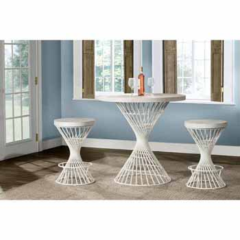 3-Piece White Dining Set