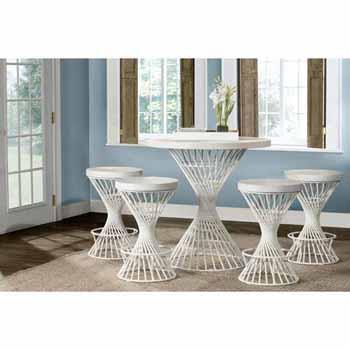 5-Piece White Dining Set
