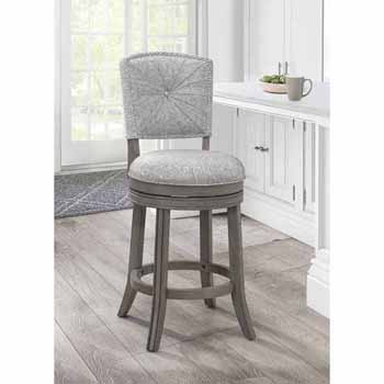 "Hillsdale Furniture Santa Clara II Swivel Counter Stool, Antique Gray, 22""W x 16""D x 41""H"