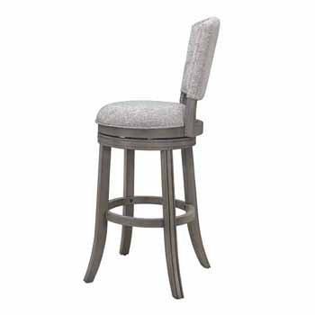 "Hillsdale Furniture Santa Clara II Swivel Counter Stool, Antique Gray, 22""W x 16""D x 41""H"