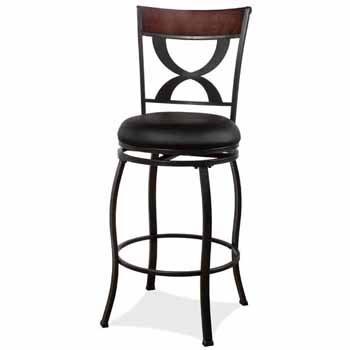 "Hillsdale Furniture Stockport Swivel Counter Height Stool, Pewter, 19-1/8""W x 17""D x 40-1/2""H"