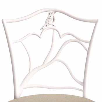 "Hillsdale Furniture Avienne Swivel Counter Stool, White, 22-1/2""W x 22-1/2""D x 41-1/2""H"