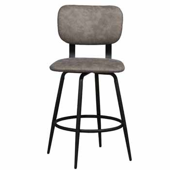 Counter Stool, Black, Front View